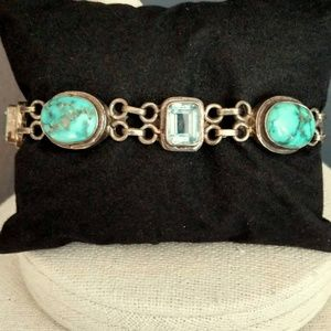 Jewelry - Turquoise and blue stone toggle bracelet